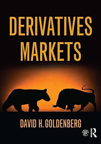 Derivatives Markets: David Goldenberg