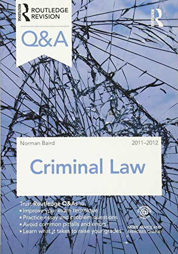 9780415599108: Q&A Criminal Law 2011-2012 (Questions and Answers)