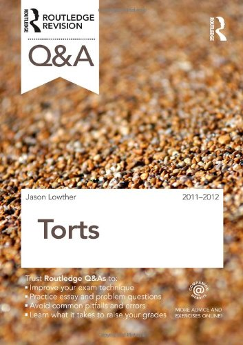 9780415599177: Q&A Torts 2011-2012 (Questions and Answers