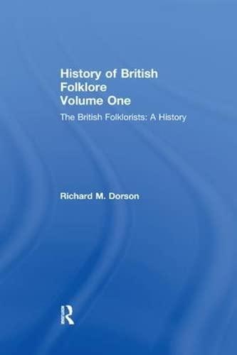 9780415605908: History British Folklore: Volume 1