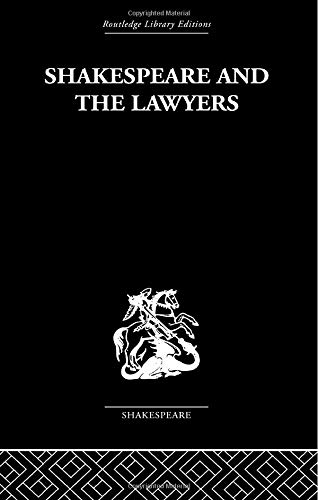Shakespeare and the Lawyers (9780415612319) by O Hood Phillips