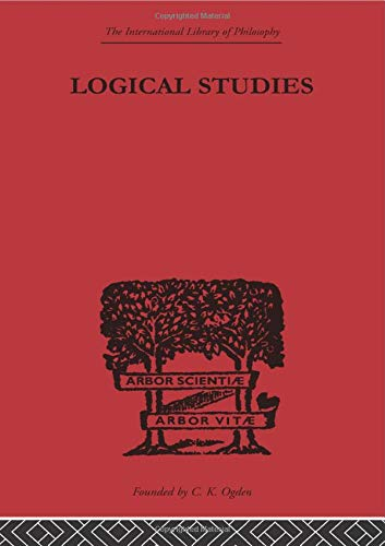 9780415613781: Logical Studies (The International Library of Philosophy)