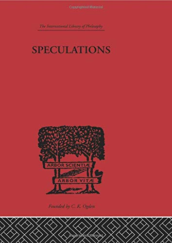 9780415614146: Speculations: Essays on Humanism and the Philosophy of Art (The International Library of Philosophy: Philosophy of Religion and General Philosophy)