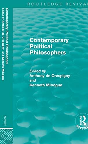 9780415614337: Contemporary Political Philosophers (Routledge Revivals)