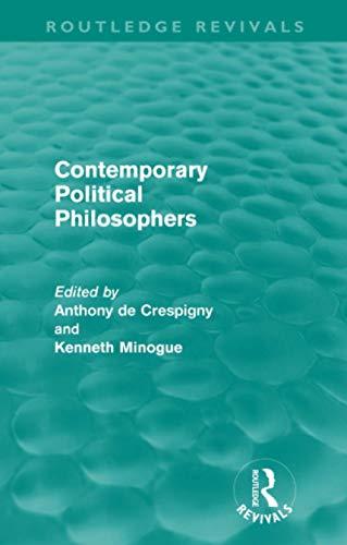 9780415614375: Contemporary Political Philosophers (Routledge Revivals)