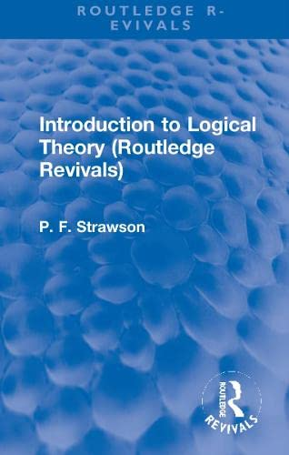 9780415618571: Introduction to Logical Theory (Routledge Revivals)