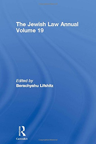 9780415619585: The Jewish Law Annual Volume 19