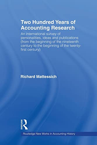 9780415620420: Two Hundred Years of Accounting Research (Routledge New Works in Accounting History)