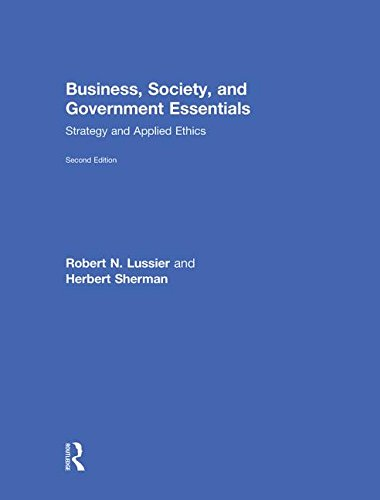 9780415622097: Business, Society, and Government Essentials: Strategy and Applied Ethics
