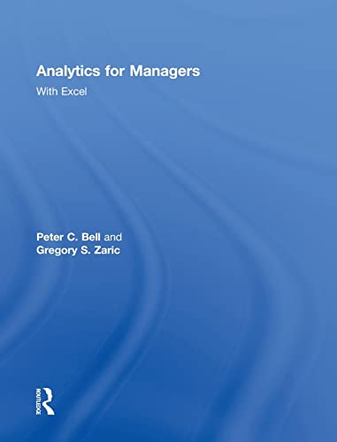 9780415622691: Analytics for Managers: With Excel