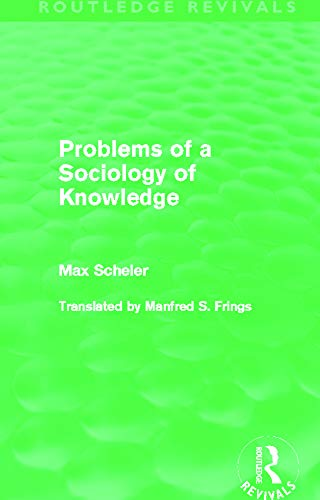 9780415628402: Problems of a Sociology of Knowledge (Routledge Revivals)