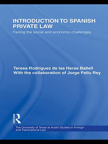 9780415631501: Introduction to Spanish Private Law: Facing the Social and Economic Challenges
