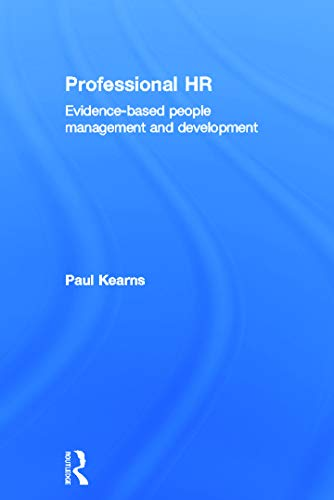 9780415632317: Professional HR: Evidence- Based People Management and Development
