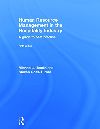 9780415632539: Human Resource Management in the Hospitality Industry: A Guide to Best Practice
