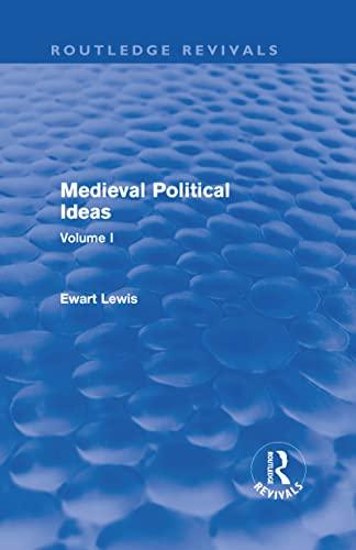 9780415641937: Medieval Political Ideas (Routledge Revivals): Volume I (Volume 6)