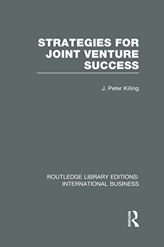 9780415643320: Strategies for Joint Venture Success (RLE International Business)