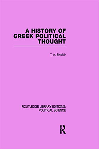 9780415645553: A History of Greek Political Thought (Routledge Library Editions: Political Science Volume 34)