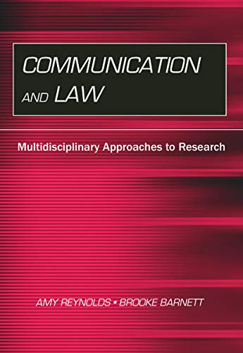 9780415646826: Communication and Law: Multidisciplinary Approaches to Research (Routledge Communication Series)
