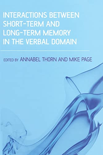 Interactions Between Short-Term and Long-Term Memory in the Verbal Domain: Thorn, Annabel