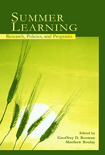 9780415652131: Summer Learning: Research, Policies, and Programs