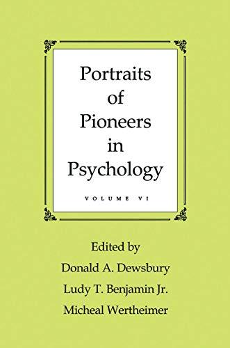 9780415653923: Portraits of Pioneers in Psychology: Volume VI
