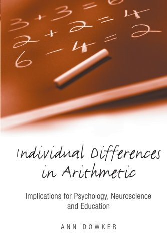 9780415655125: Individual Differences in Arithmetic: Implications for Psychology, Neuroscience and Education