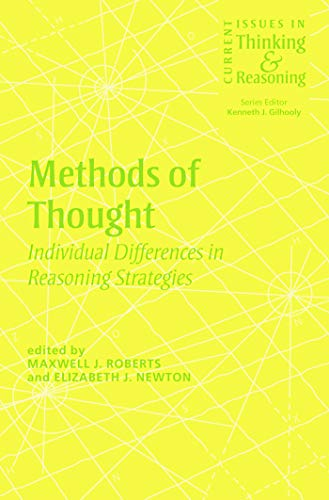 9780415655552: Methods of Thought: Individual Differences in Reasoning Strategies (Current Issues in Thinking and Reasoning)