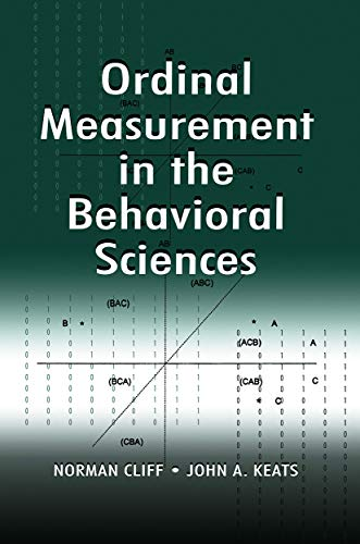 9780415655798: Ordinal Measurement in the Behavioral Sciences
