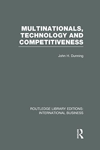 9780415658140: Multinationals, Technology & Competitiveness (RLE International Business)