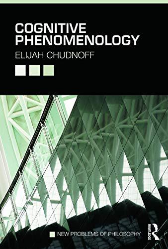 Cognitive Phenomenology: Elijah Chudnoff