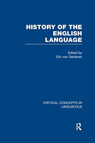 Elly van gelderen a history of the english language