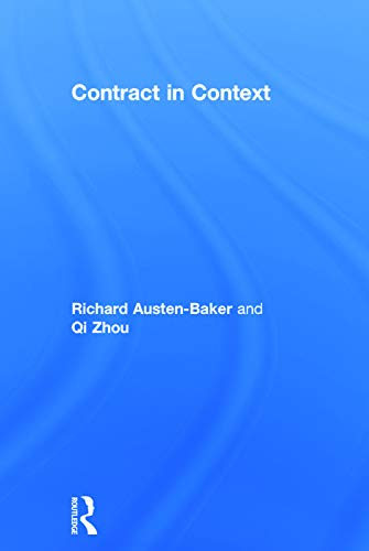 9780415663168: Contract in Context