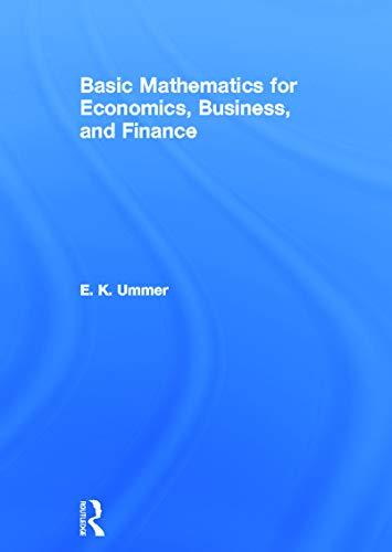 9780415664196: Basic Mathematics for Economics, Business and Finance