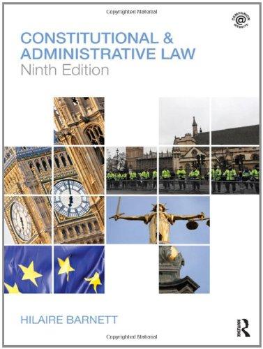 Constitutional & Administrative Law: Barnett, Hilaire