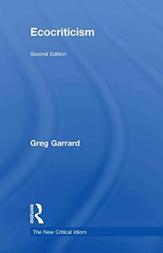 9780415667852: Ecocriticism (The New Critical Idiom)