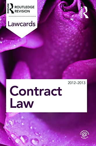 Contract Lawcards 2012-2013: Routledge