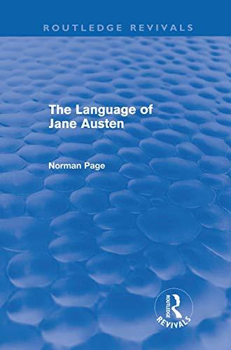 9780415687874: The Language of Jane Austen (Routledge Revivals)