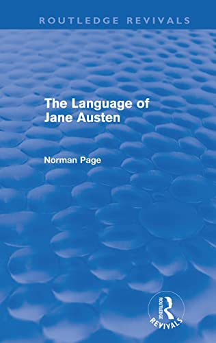 The Language of Jane Austen (Paperback): Professor Norman Page