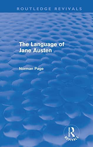 Language Of Jane Austen, The