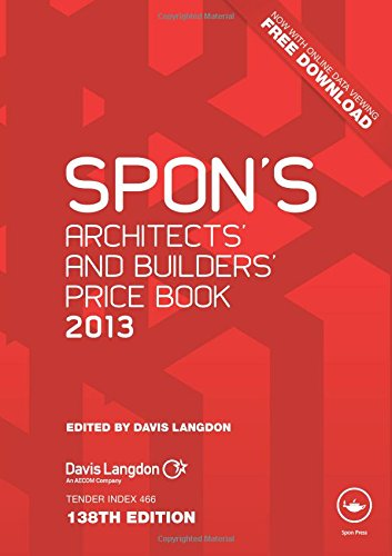 9780415690775: Spon's Architects' and Builders' Price Book 2013