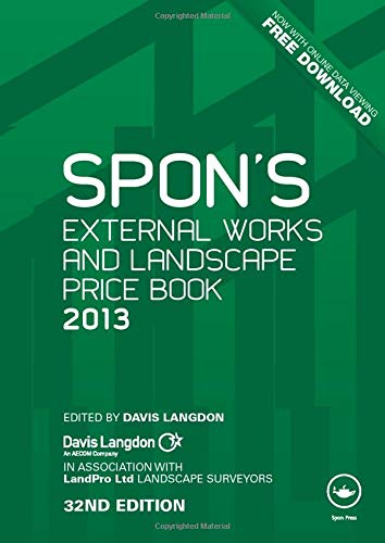 9780415690799: Spon's External Works and Landscape Price Book 2013