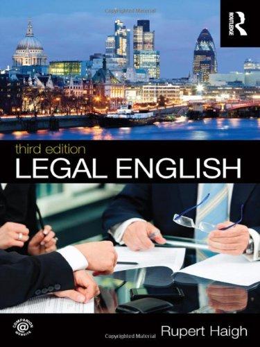 9780415694353: Legal English
