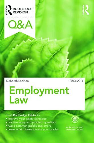 9780415695077: Q&A Employment Law 2013-2014 (Questions and Answers)