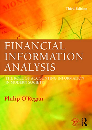 9780415695855: Financial Information Analysis: The role of accounting information in modern society