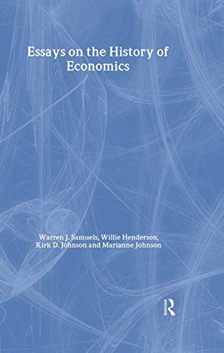 9780415700061: Essays in the History of Economics (Routledge Studies in the History of Economics)