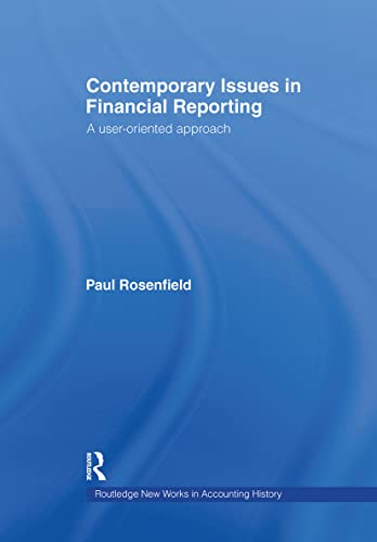 Contemporary Issues in Financial Reporting: Paul Rosenfield