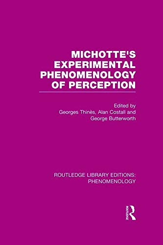 9780415705158: Michotte's Experimental Phenomenology of Perception: Volume 13 (Routledge Library Editions: Phenomenology)