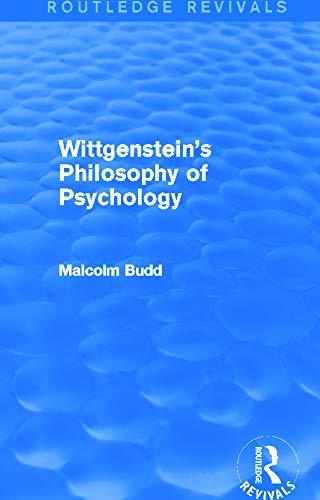 9780415705523: Wittgenstein's Philosophy of Psychology (Routledge Revivals)