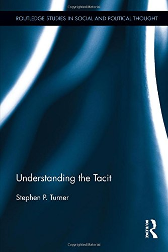 Understanding the Tacit (Routledge Studies in Social and Political Thought): Turner, Stephen P.