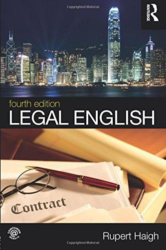 9780415712859: Legal English